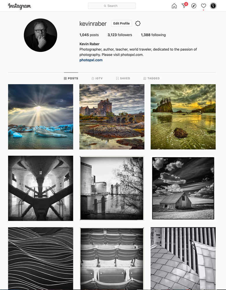 Kevin Raber's Instagram page