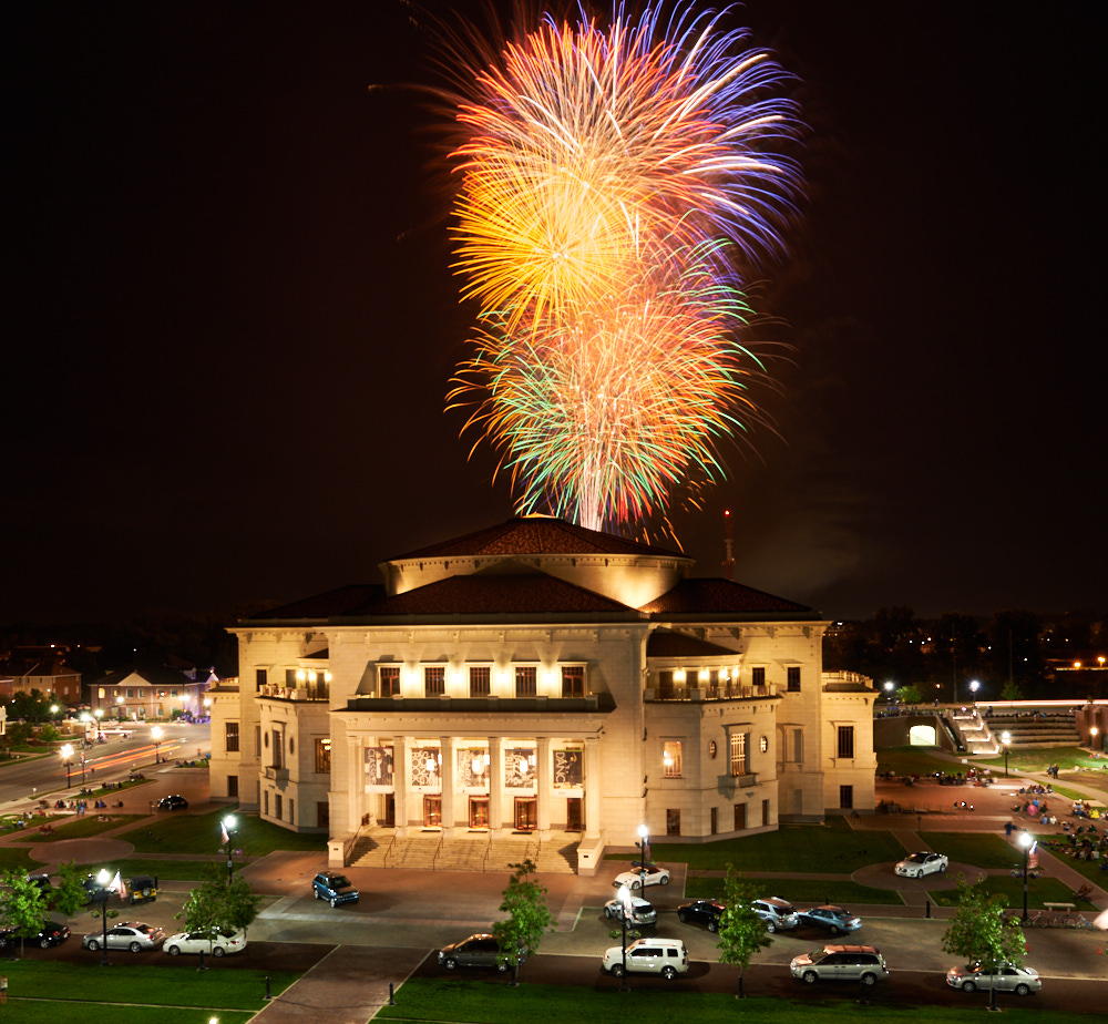 Fireworks at the Carmel Performing Arts Center