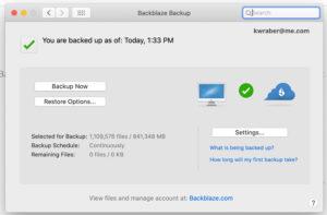 BackBlaze Cloud Backup