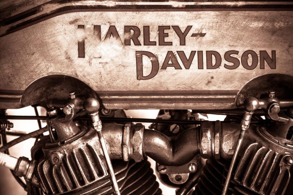 Harley-Davidson motorcycle classic car detail …
