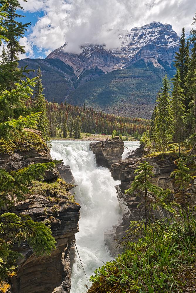"""Athabasca Falls, Jasper NP, Alberta"" in color"