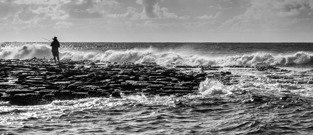 """Old Man and the Sea"""" in B&W"""