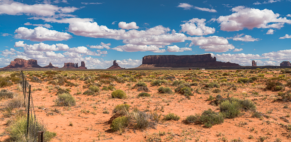 """Monument Valley from Rte. 163"""" in color"""