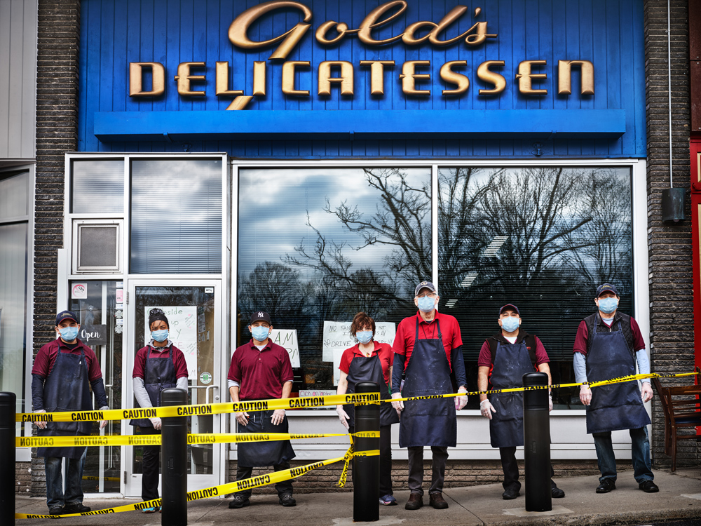 The opening image from the article of the owners & workers at Gold's Deli in Stephen's current hometown of Westport, Connecticut