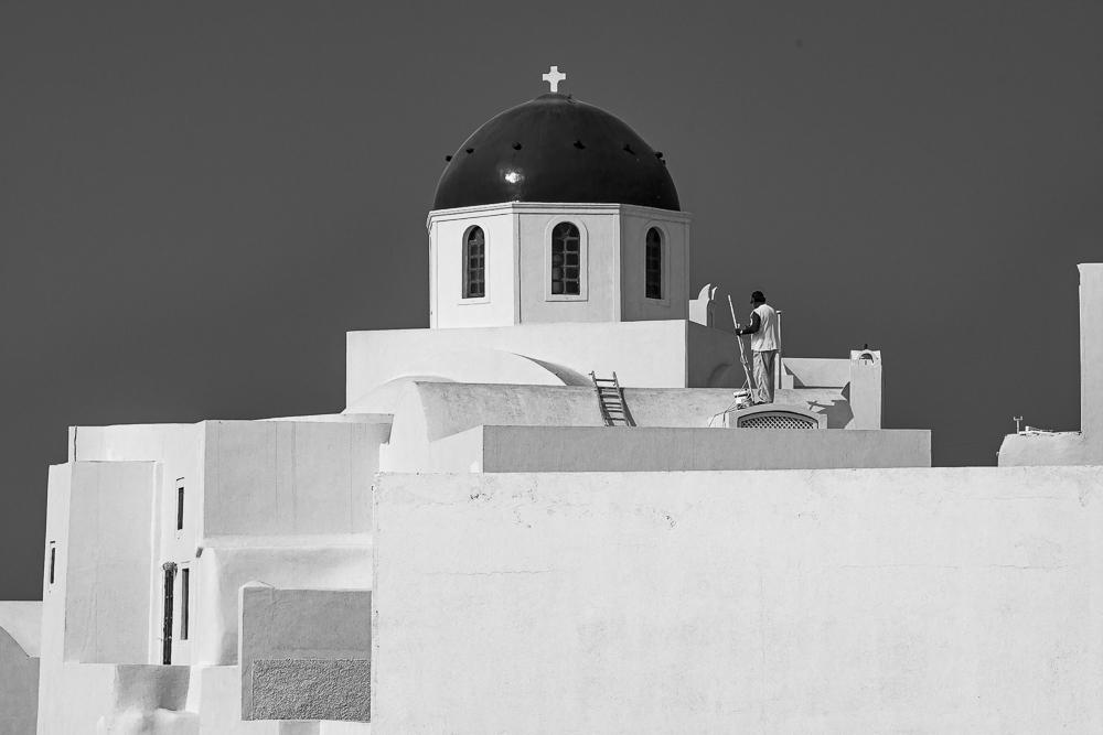 How Santorini Buildings Stay White