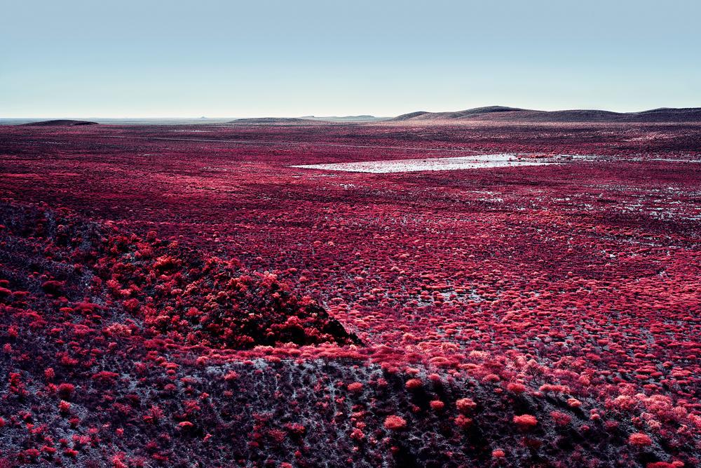 Zak van Biljon (Switzerland) Kalakwa 5Color Infrared image – Namibia from the series Modernising Nature http://zakvanbiljon.com/