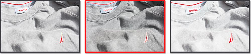 Black Sweater OneZone Bracket Set 1st Exp. = +1.3 EV2nd Exp. = +0.6 EV 3rd Exp. = +2.0 EV