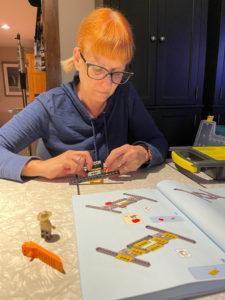 Debra working on her Lego project