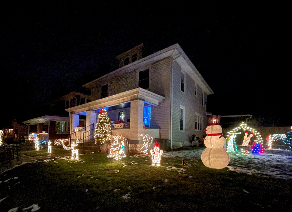 I think some people in a neighborhood compete for the best lights