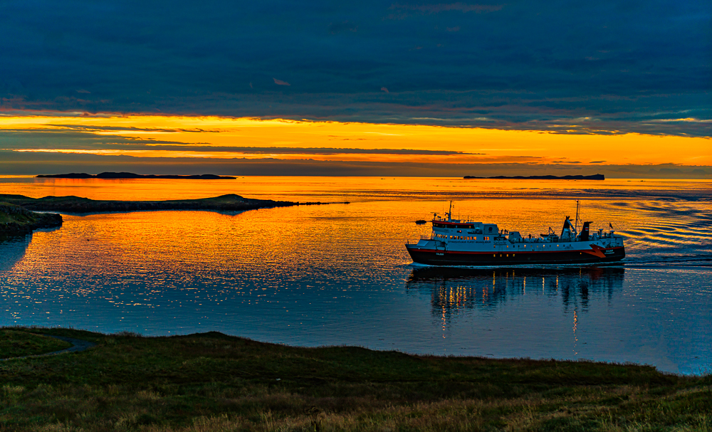Sunset Off the Coast of Stykkishsholmur, Iceland