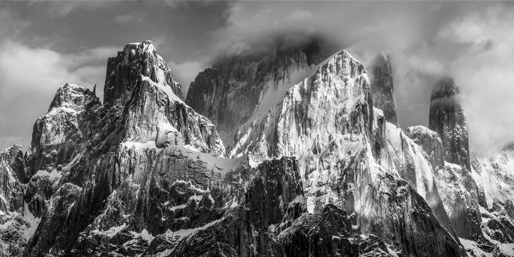 Great Trango (6286m) and Nameless Tower (6239 m), Baltoro Muztagh, Karakoram Mountains, Pakistan