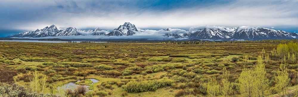 """The Grand Teton Range from Willow Flats at Sunrise, 2016"""""""