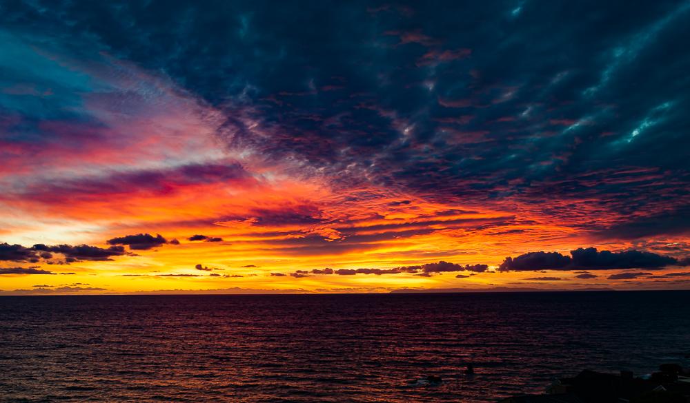 Multi-colored Clouds, Laguna Beach