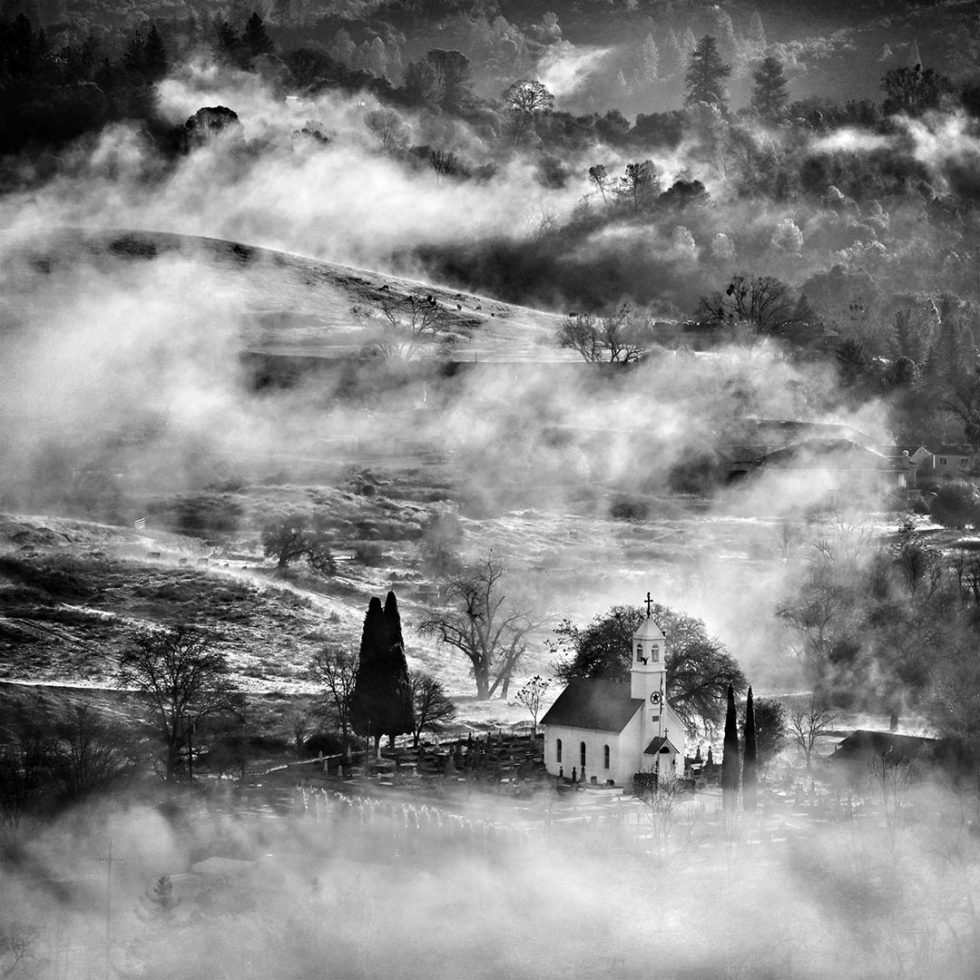 Foggy morning, Jackson, California