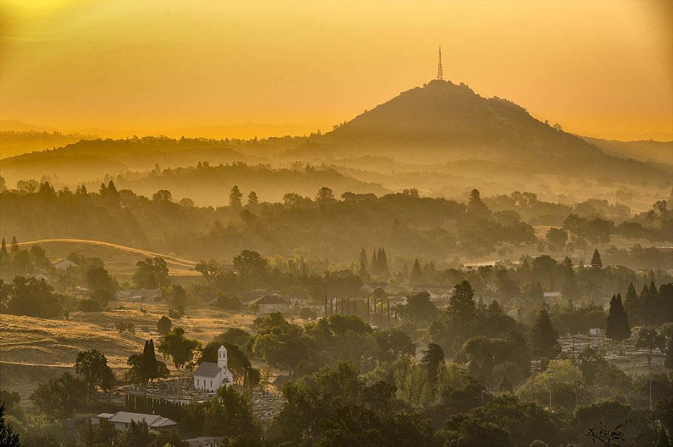 Autumn equinox sunrise, Jackson, California