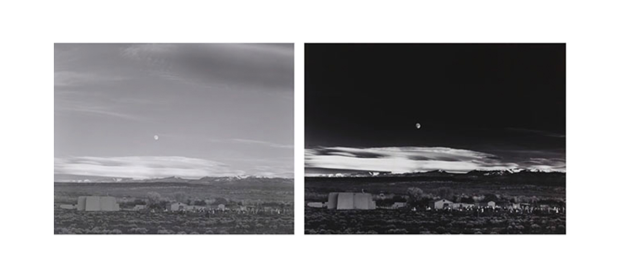 Moonrise over Hernandez – Ansel Adams – old-time manipulation by a master