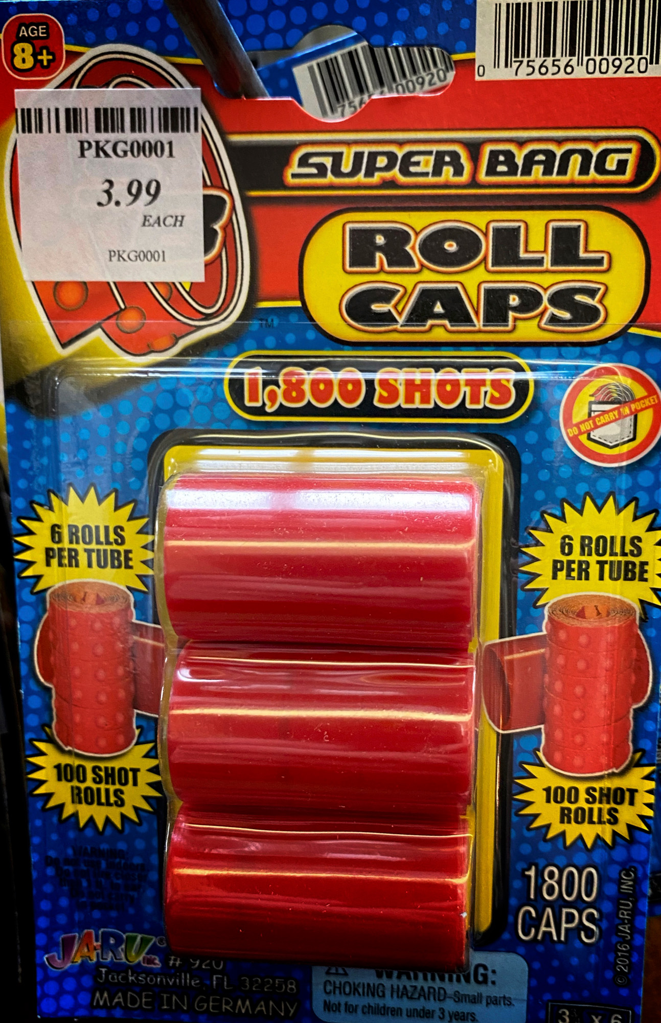 Cap guns and caps like we used to have as kids