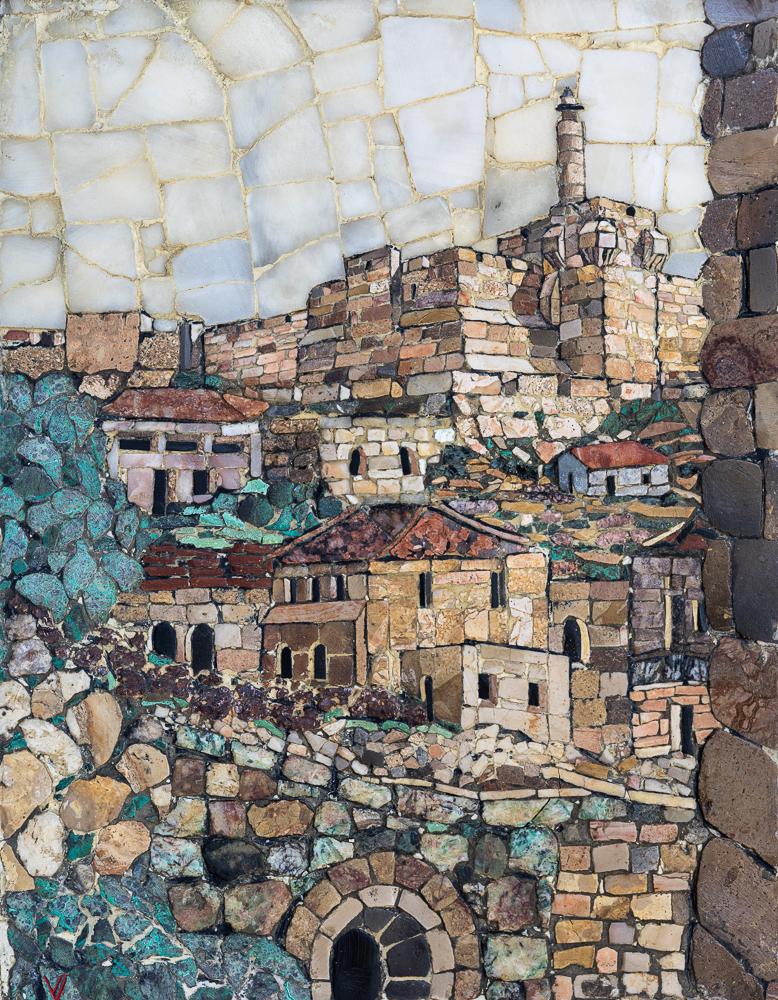 "Mosaic, King David Tower & Jerusalem"", 2x2 Array"