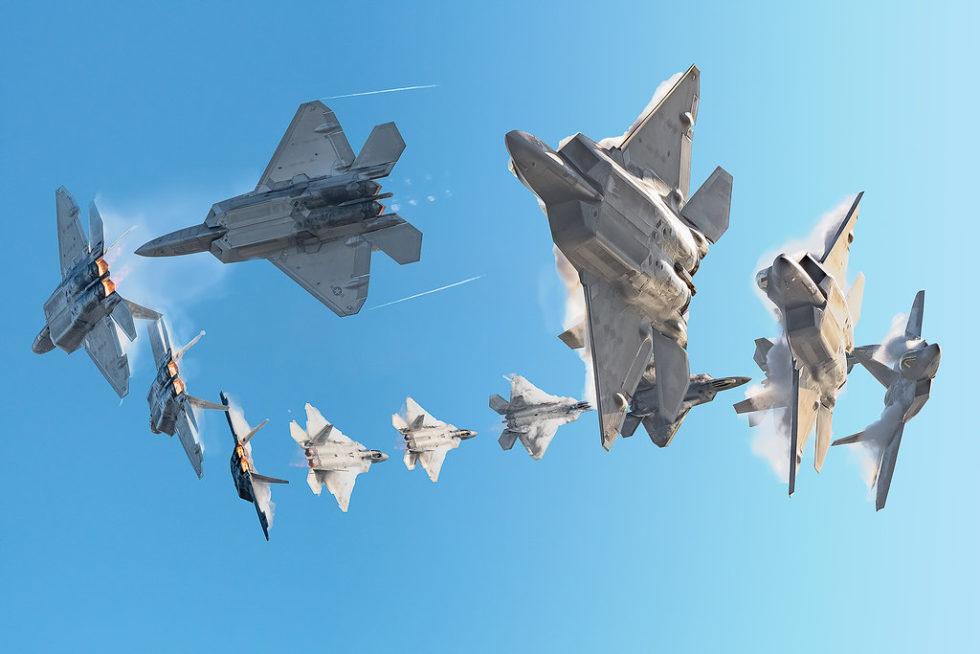F-22, High Speed Turn