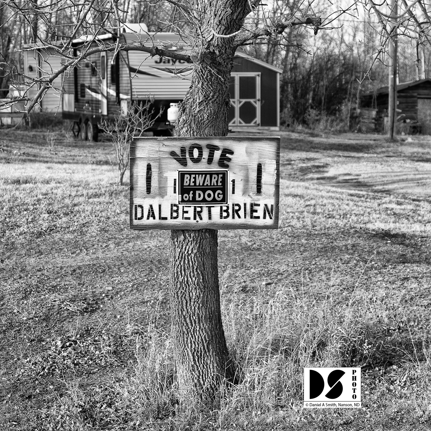 ©2021 Daniel A Smith, Double duty for election signs