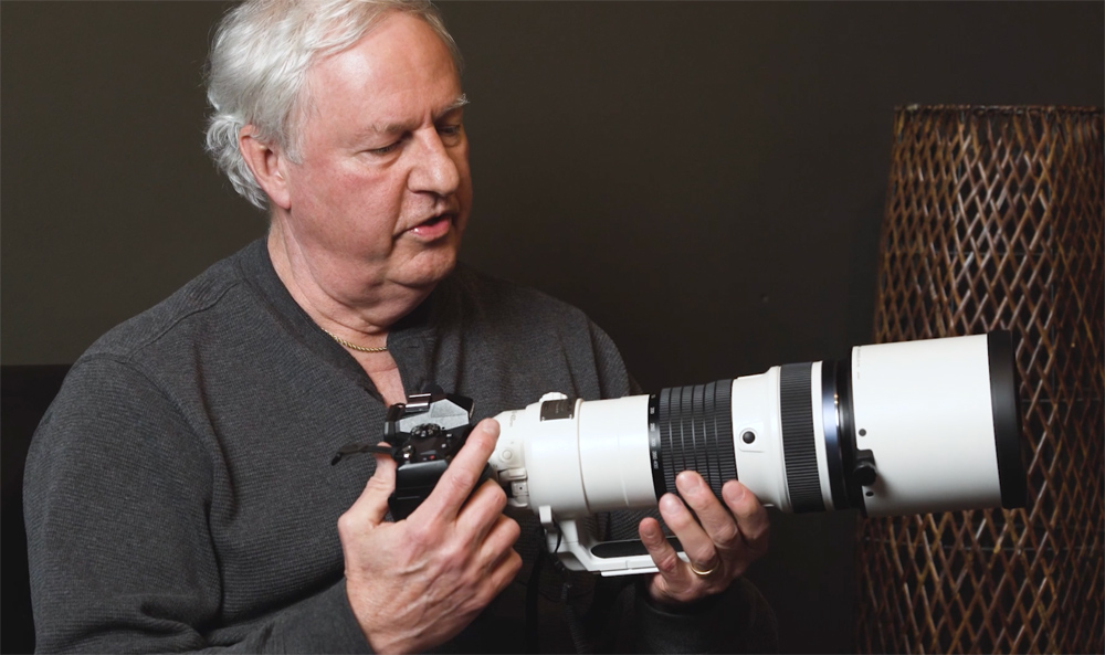 Peter Bick, Zionsville, IN, and his Olympus 150-400mm lens.