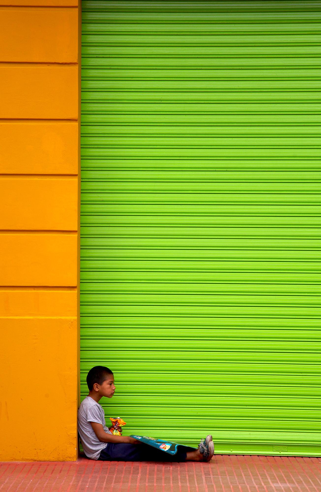 Boy In The Doorway