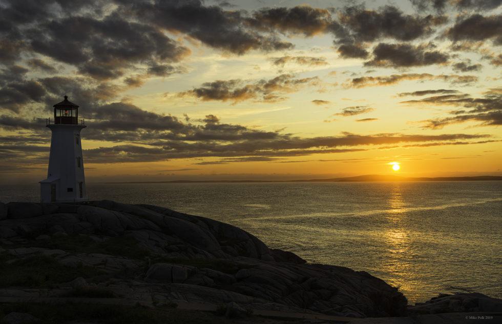 Sunset Peggy's Cove – St. Margaret's Bay, Nova Scotia