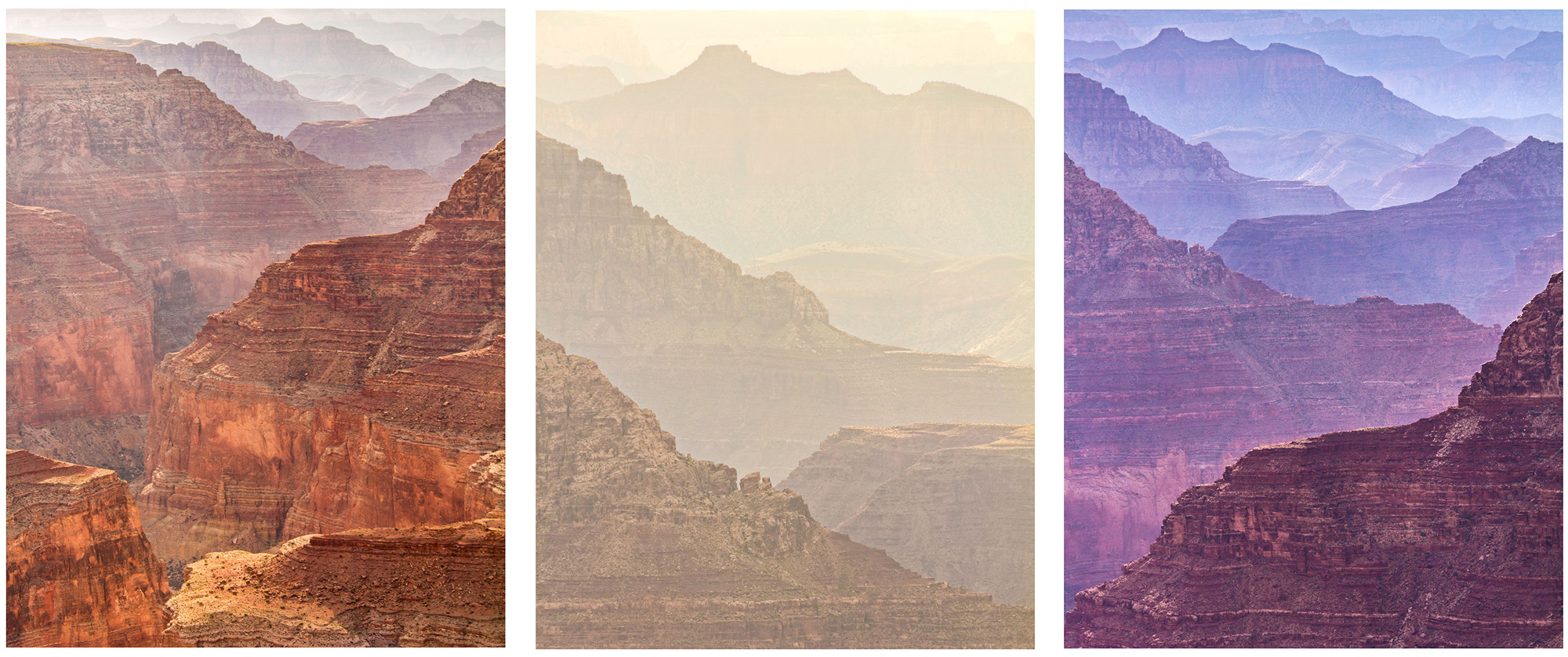 Grand Canyon Triptych