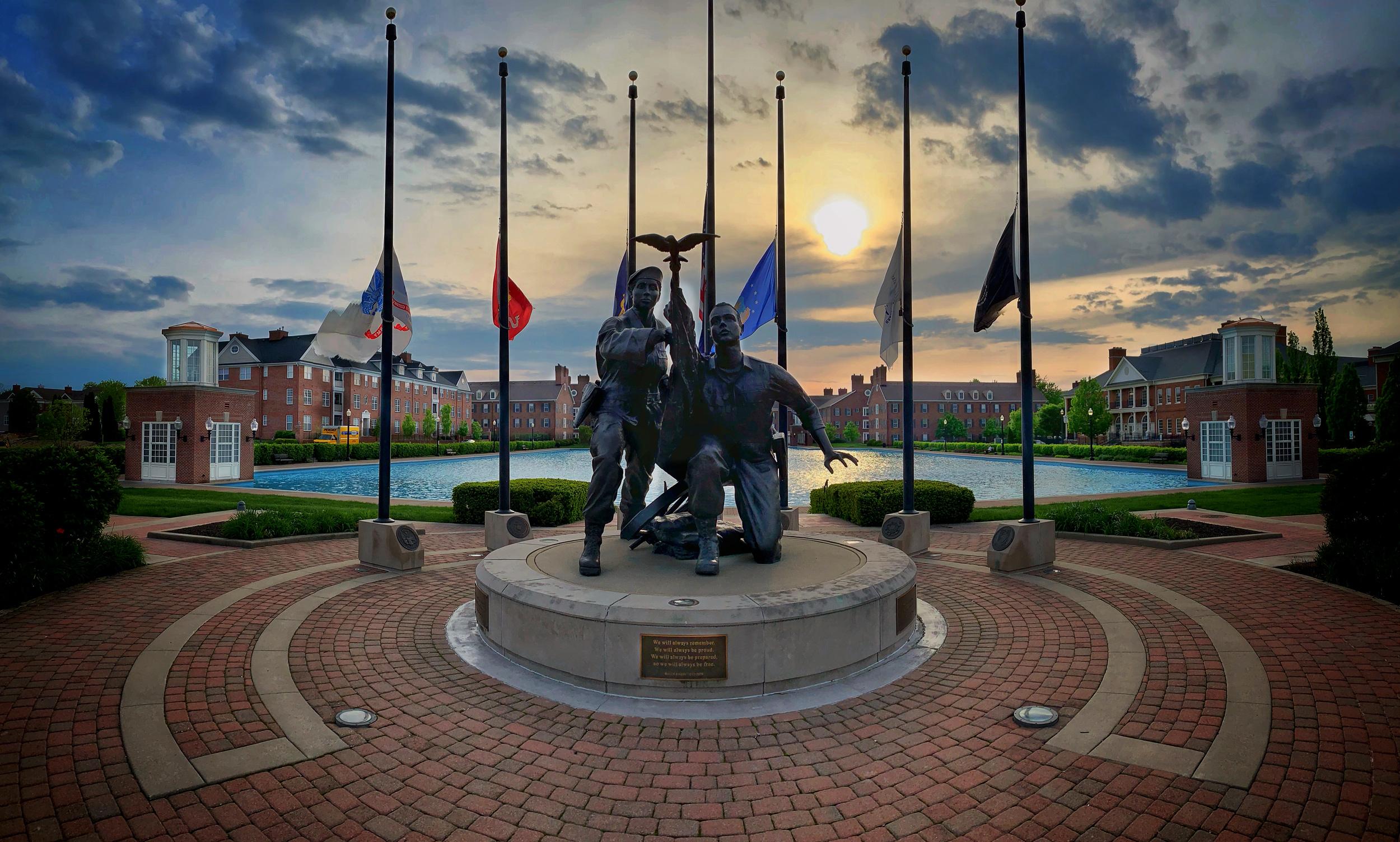 War Memorial in Carmel, Indiana