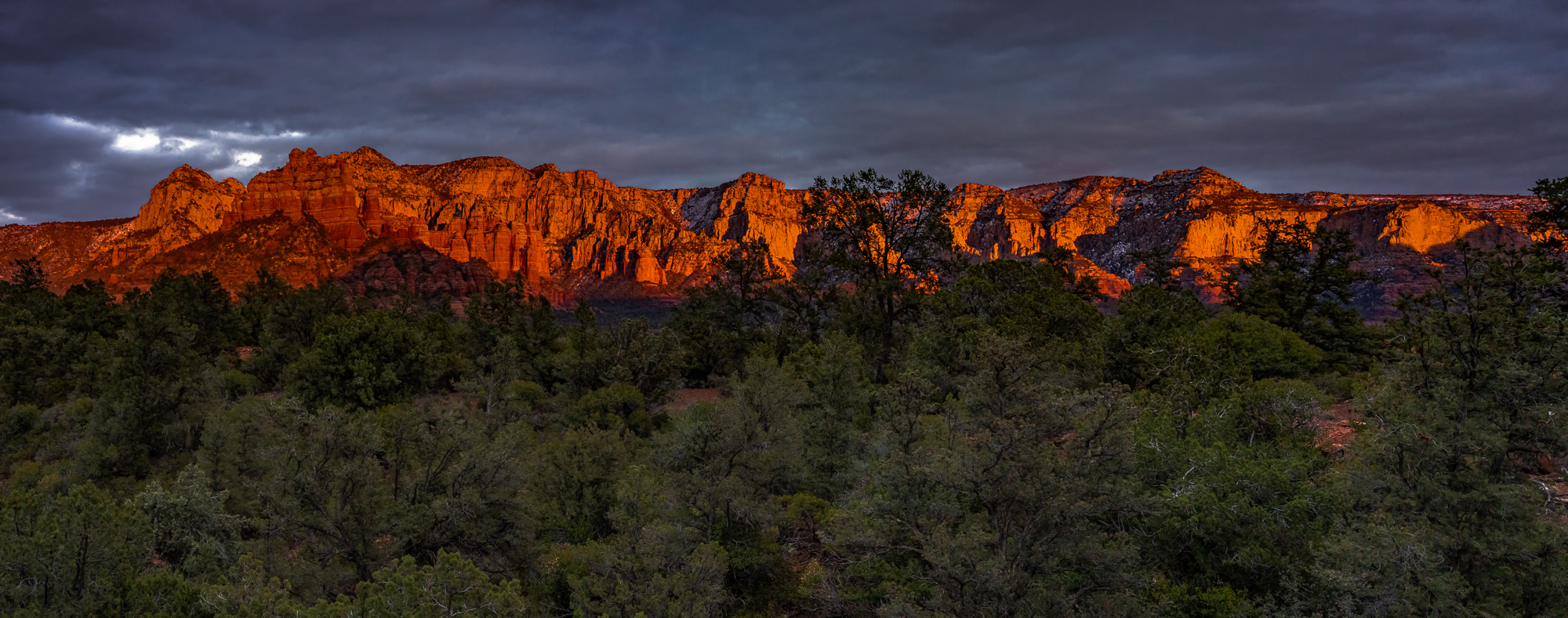 The Mogollon Rim Just After Sunset