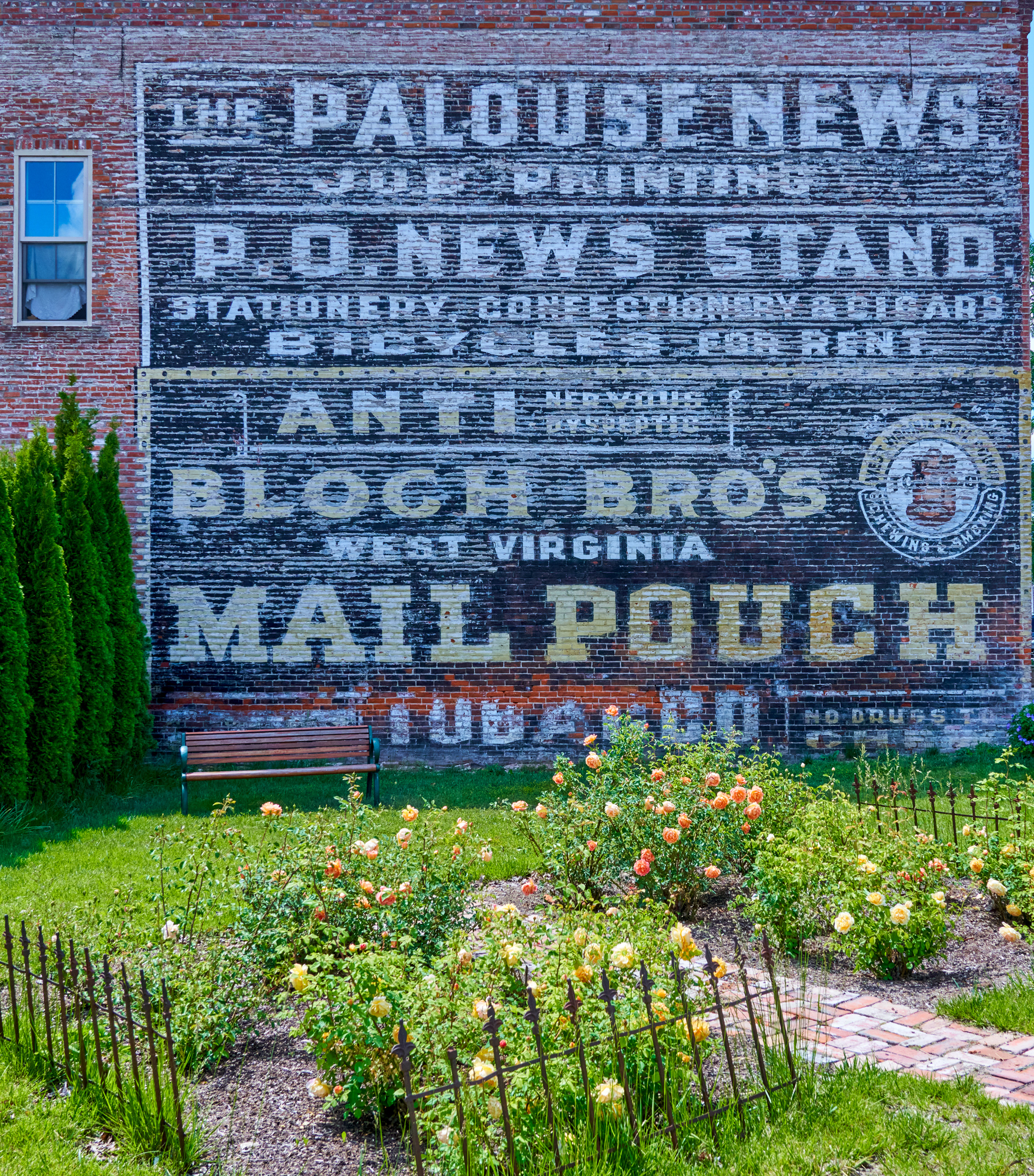 A wall in the town of Palouse