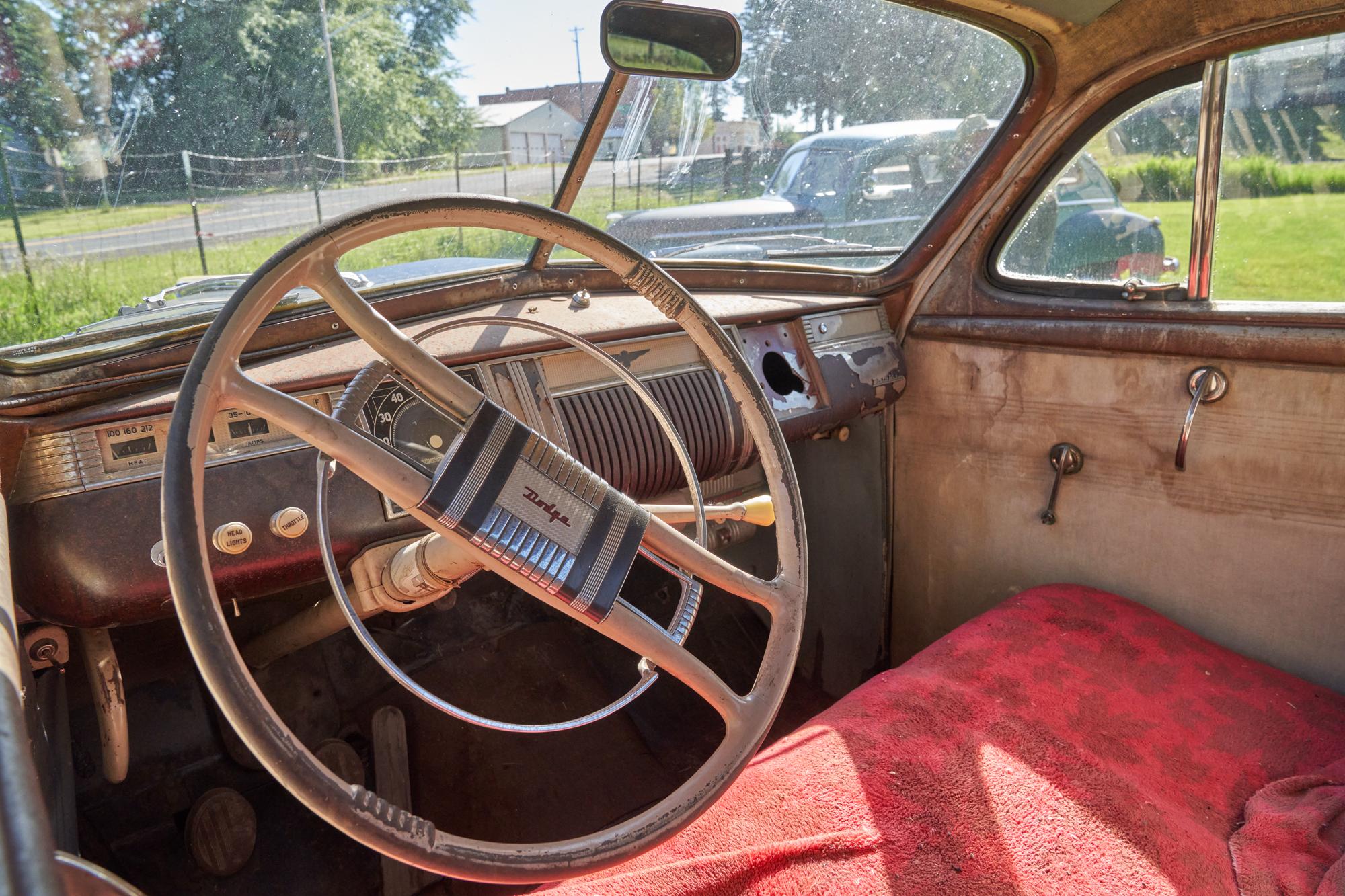 The business mans car interior