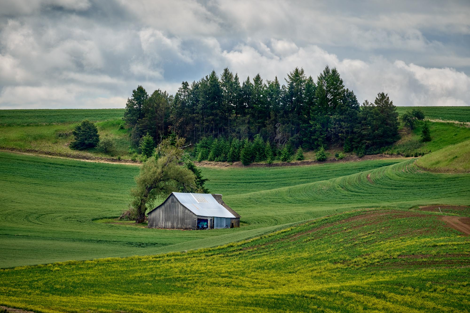 Barn on the hillside