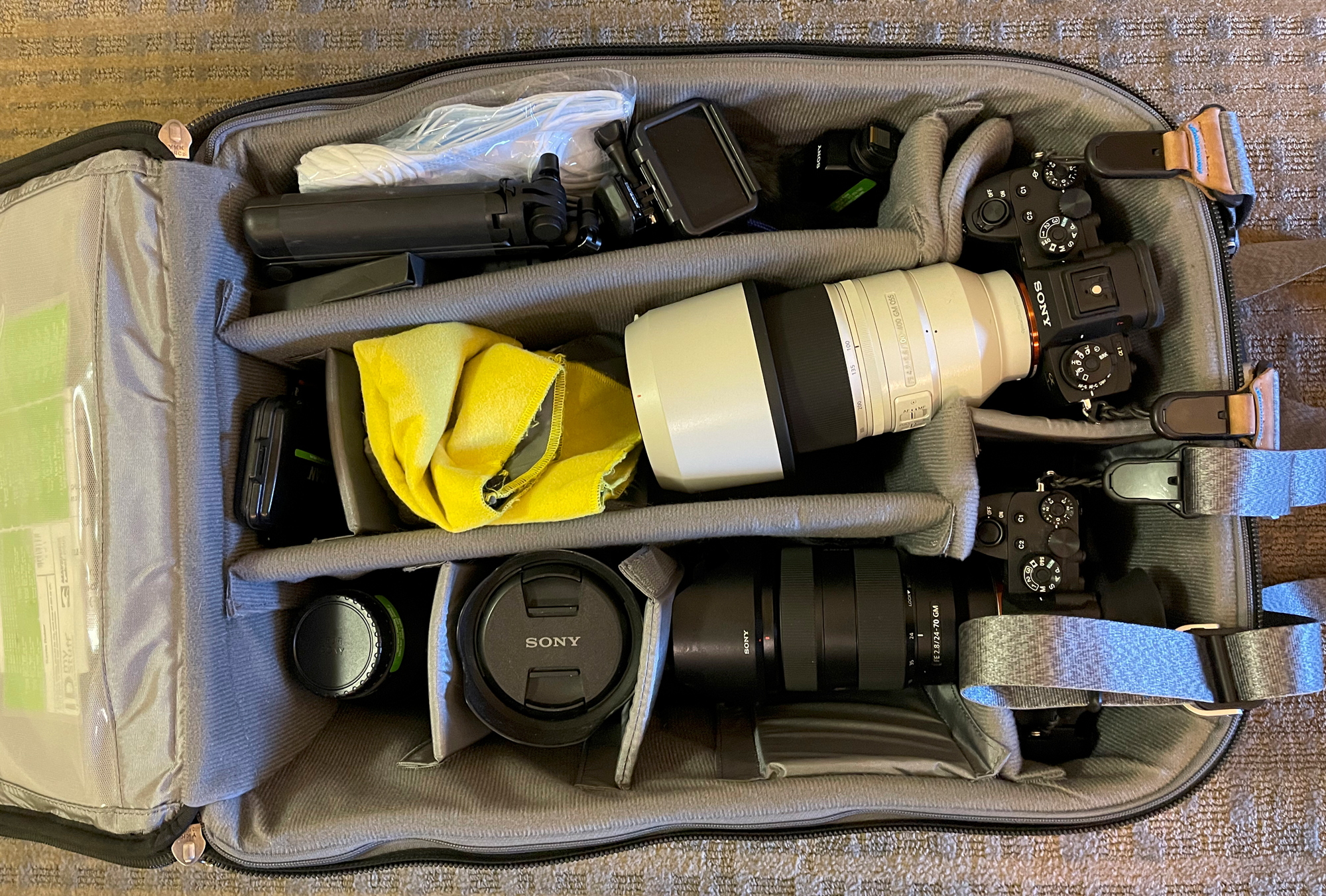 My kit a1, a7riv, 100-400mm, 24-70, 12-24mm, 16-35.