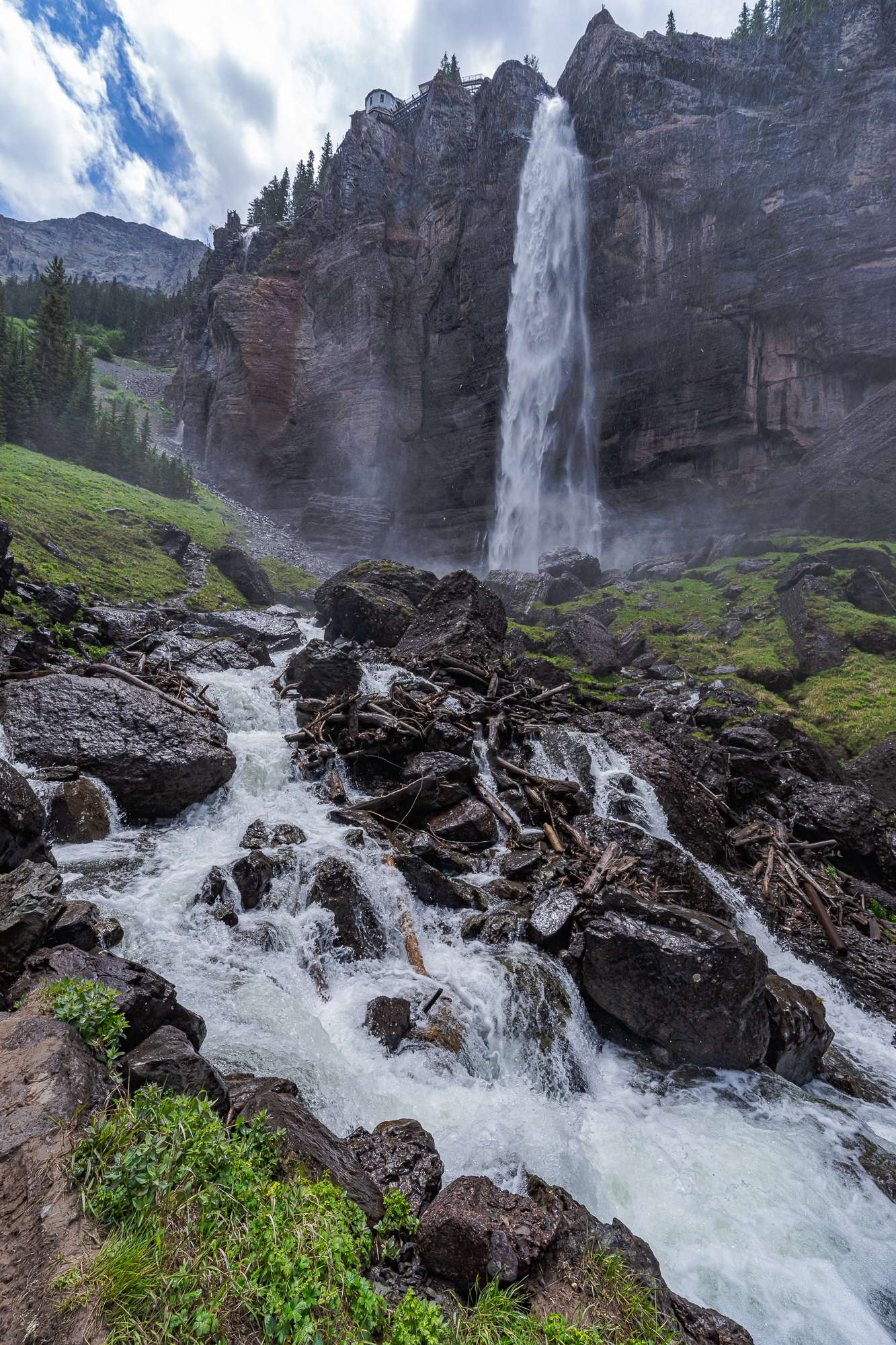 Bridal Veil Falls & Creek, Telluride, CO
